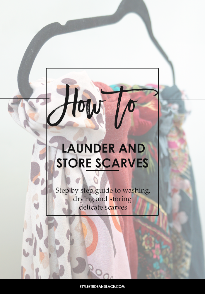 How to, storage ideas, scarf, scarves, storage, hang, silk, wool, cashmere, model, cotton, closet, wardrobe, organizing, tidy, clean, solutions, DIY, maintenance, square scarf, long scarf, washing, wash, iron, launder