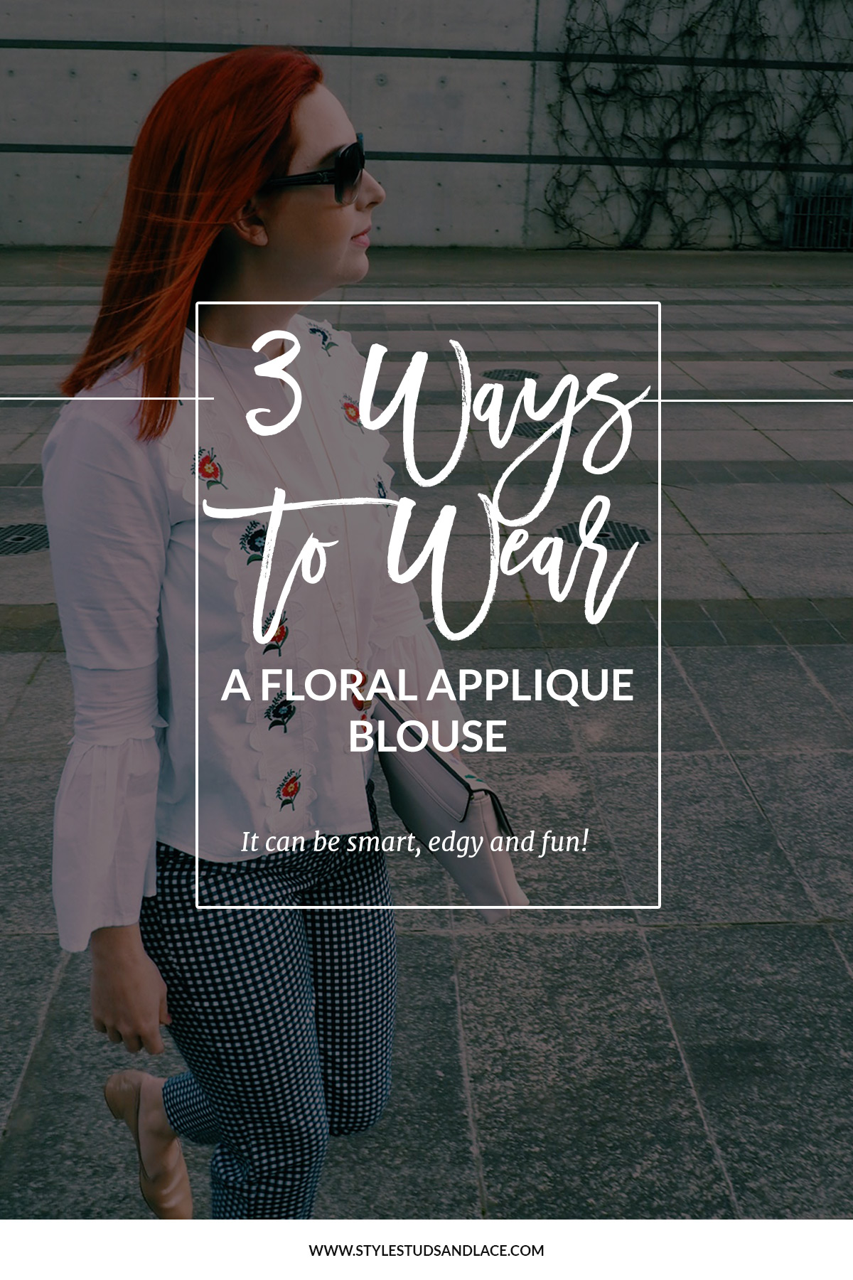 3 great ways to wear a floral, applique, blouse | they don't just have to be girly, an embroidered button up can be edgy, smart and fun, women, work wear, day wear, party, over 30, white button up, shirt
