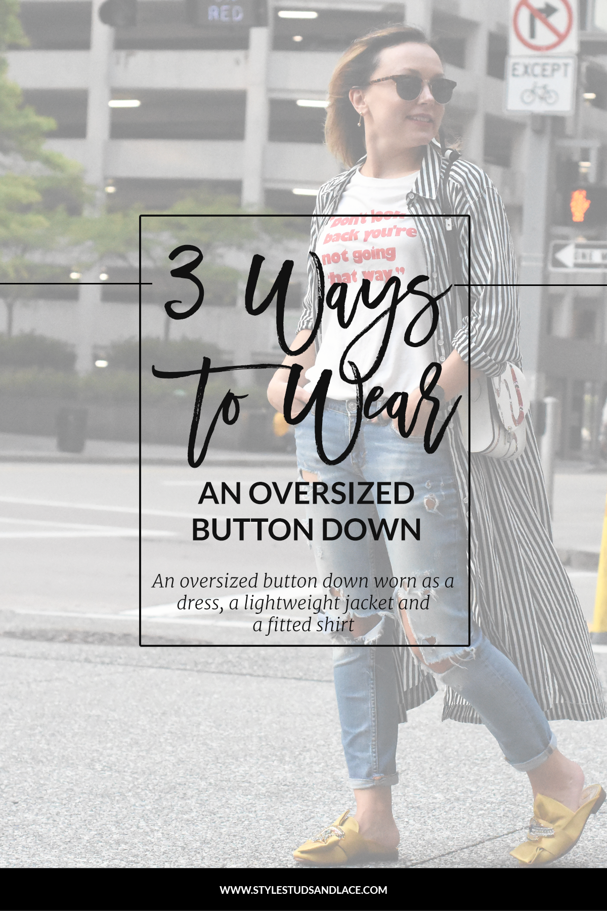 How to wear an oversized button down shirt or blouse. Three ways to wear an long-line button down for every day, a night out and the weekend