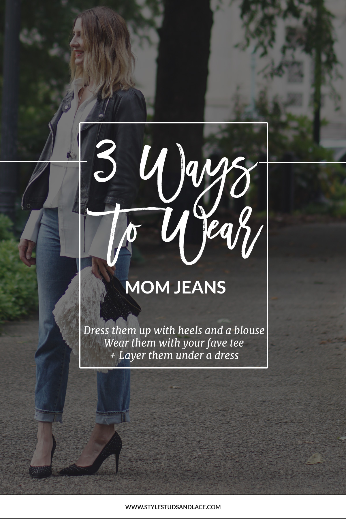 How to wear Mum jeans | Mom jeans are so versatile they can be dressed up, layered under dresses and worn casually