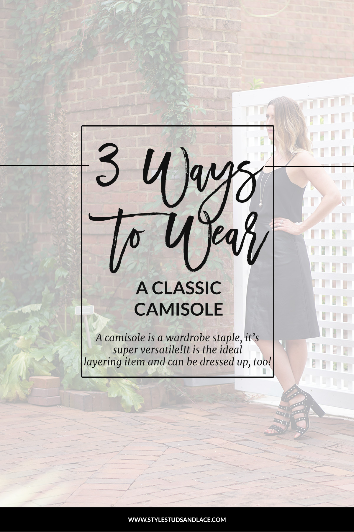 Three simple ways to breathe new life into your camisole | A vest is a wardrobe staple, it's versatile and can be worn to work, at the weekend, on a night out and is perfect layering.