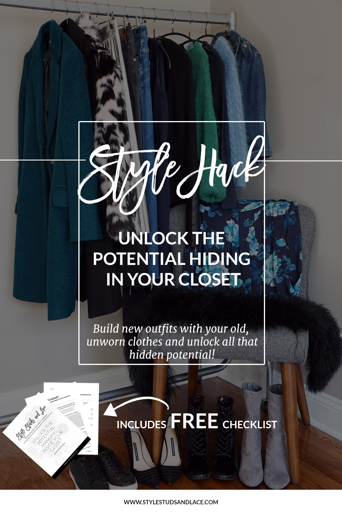 How to unlock the potential hanging inside your closet and build new outfits with old clothes | 3 simple stages to wearing the clothes that are hanging unworn in your closet, shop your closet, save money, shop consciously, shopping tips, style advice, style hack, top tips, solutions, organization